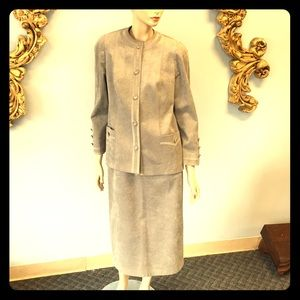 Vintage Gray Suede Custom suit Hong Kong